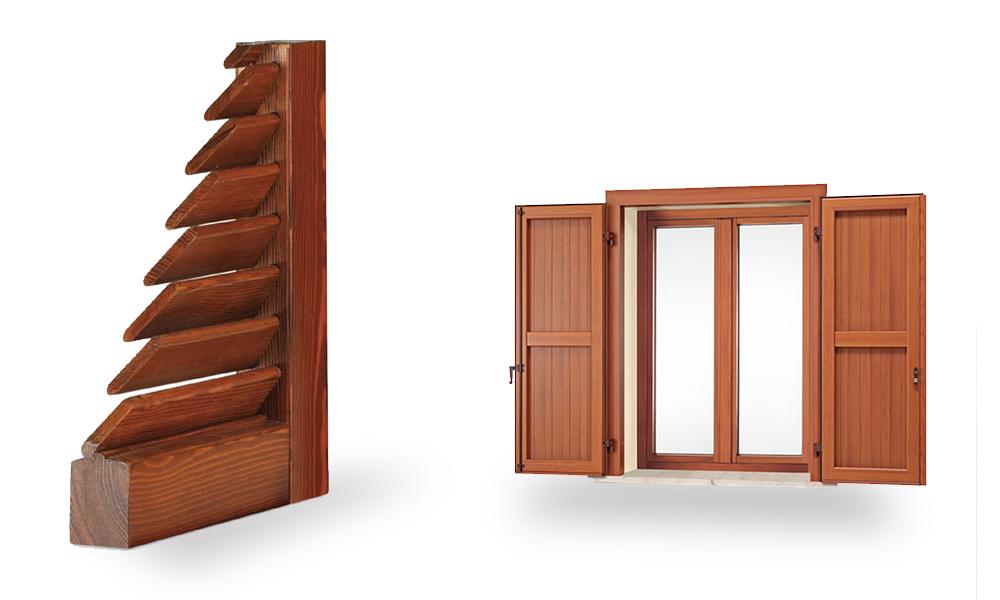 Realizzazione chiusure oscuranti bergamo for Scuri in legno costo